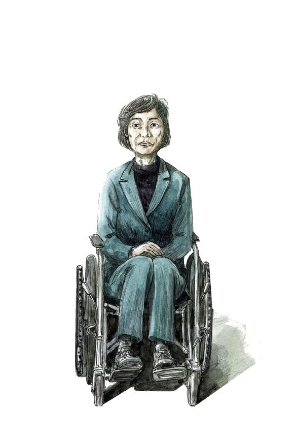 50대 여성 장애인 [6월 항쟁]